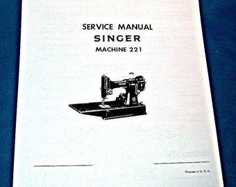 singer manual etsy rh etsy com singer featherweight user manual singer featherweight 221 owners manual