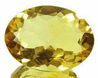 Gelber Citrin - Yellow Citrine - 16,00mm*12,00mm*6,10mm ca. - 7ct