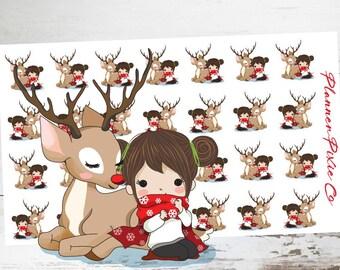 Christmas // Reindeer // Winter // Deco Planner Stickers // 054