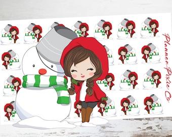 Snowman // Winter // Christmas // Deco Planner Stickers // 058