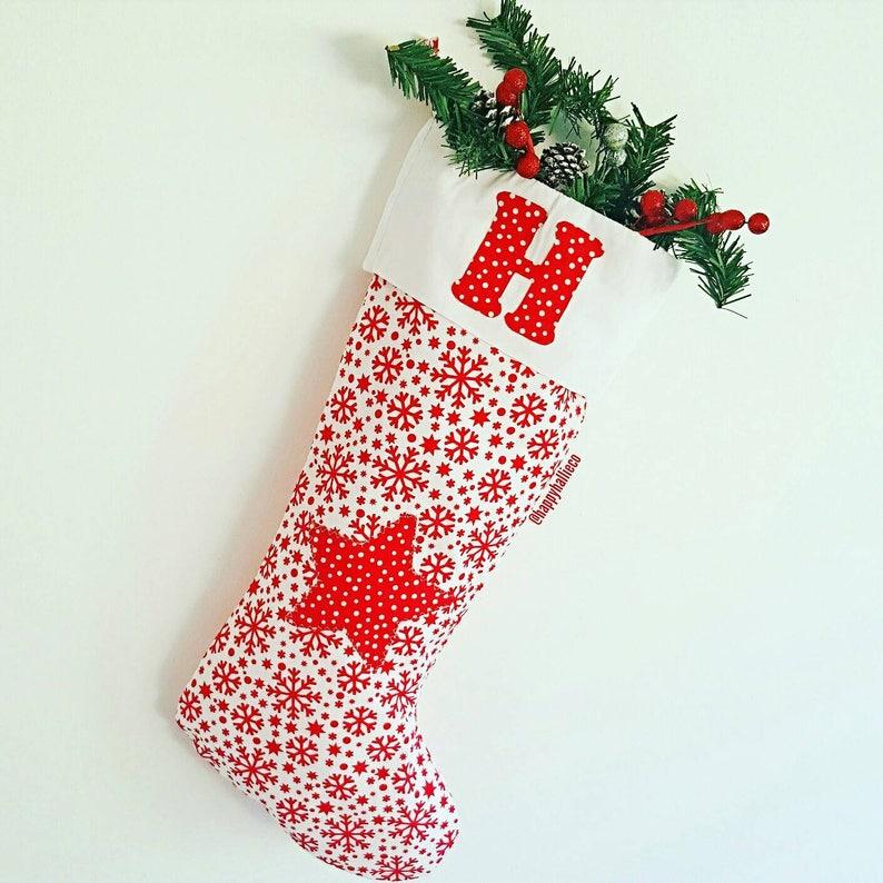 Letter Christmas Stockings.Personalised Initial Stocking Letter Christmas Stocking Nursery Decor Kids Bedroom Handmade Appliqued Stocking Kids Keepsake Gift