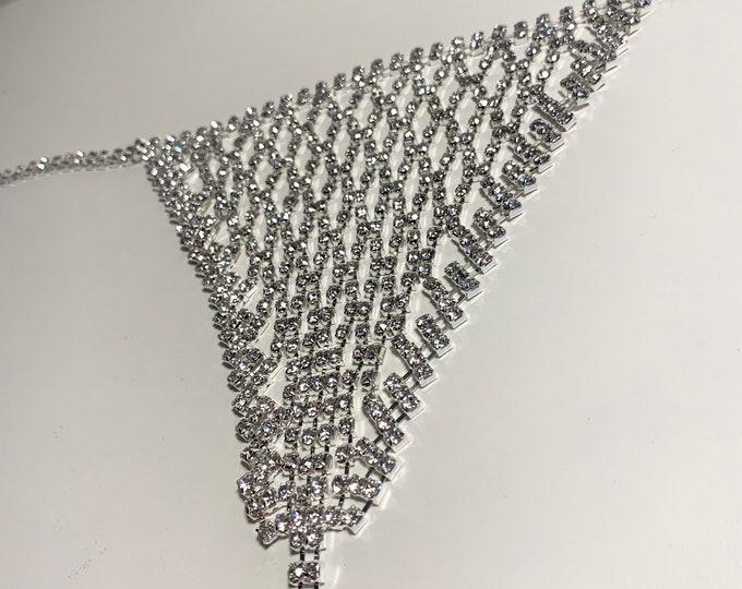 Featured listing image: Rhinestone Crystal Thong. Knickers. Underwear. Bikini. Lingerie. Panties. Rhinestones. Crystals. Gift. (2)