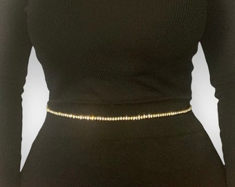 Silver And Gold Rhinestone Crystal Waist Chain, Body Chains For Women - Belly Chain With Crystal Beads (15)