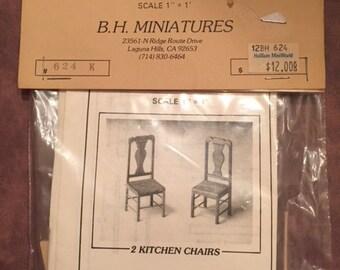 Dollhouse Miniature Chair Kit