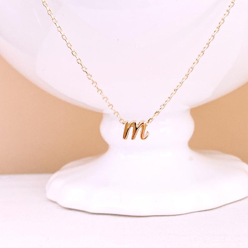 Initial NecklacesLower case Letter Necklace Alphabet image 0