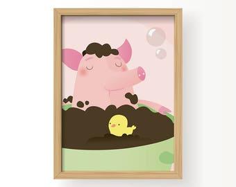 Poster Babykamer Pastel : Poster kinderkamer etsy