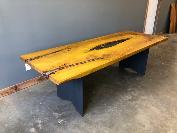 Truly Unique Dining Table | Truly Unique Conference Room Table | Live Edge  Table | Live Edge Osage Orange Table