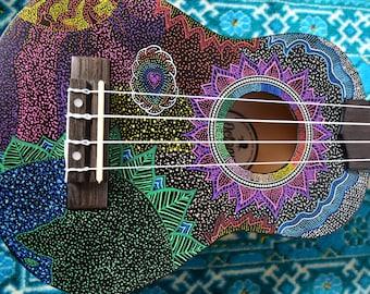 Gaia Connection Hand Painted Ukulele