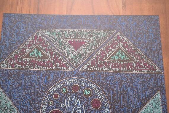 Cosmic Protector Light Language Healing Code Artwork Original Painting Hand  Painted One Off