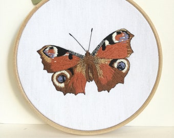 Hand - Butterfly day Peacock embroidery