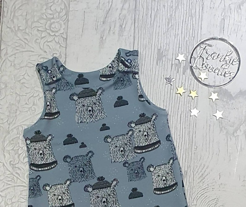Winter Bears Baby /& Toddler Romper Handmade To Order Cloth Bum Fit Dungarees Stretch Baby Outfit Baby Clothing Christmas Autumn Winter