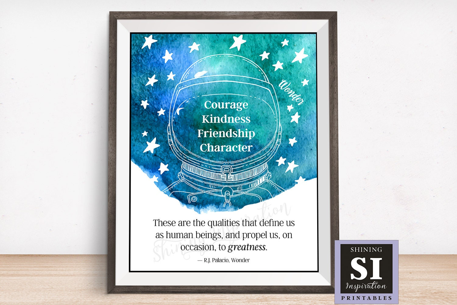 Wonder movie quote wonder book quote courage kindness etsy zoom reheart Choice Image