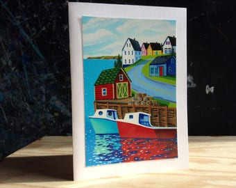 5X7 Greeting Card- Hall's Harbour,NS