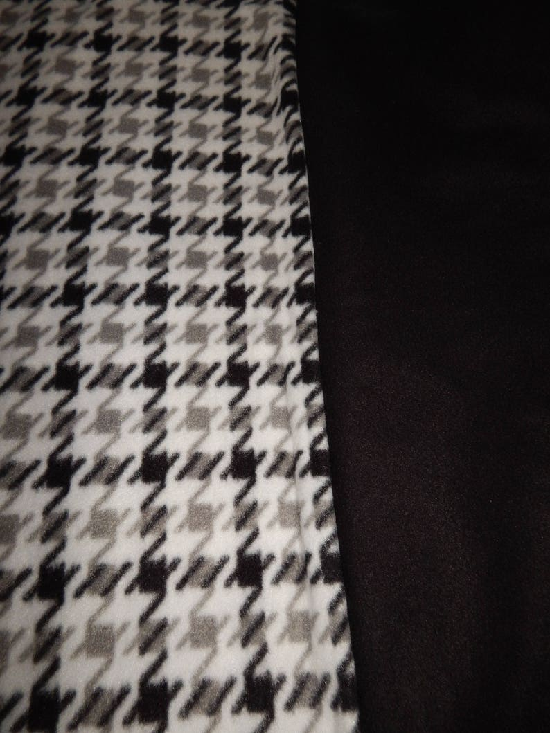 Houndstooth Dog Coat with Choice of Color collar /& Sleeves Black Gray and White or Red Winter Clothing for your Pet Snood Collar Size Shirt
