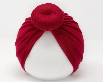 Red ||Top Knot Turban