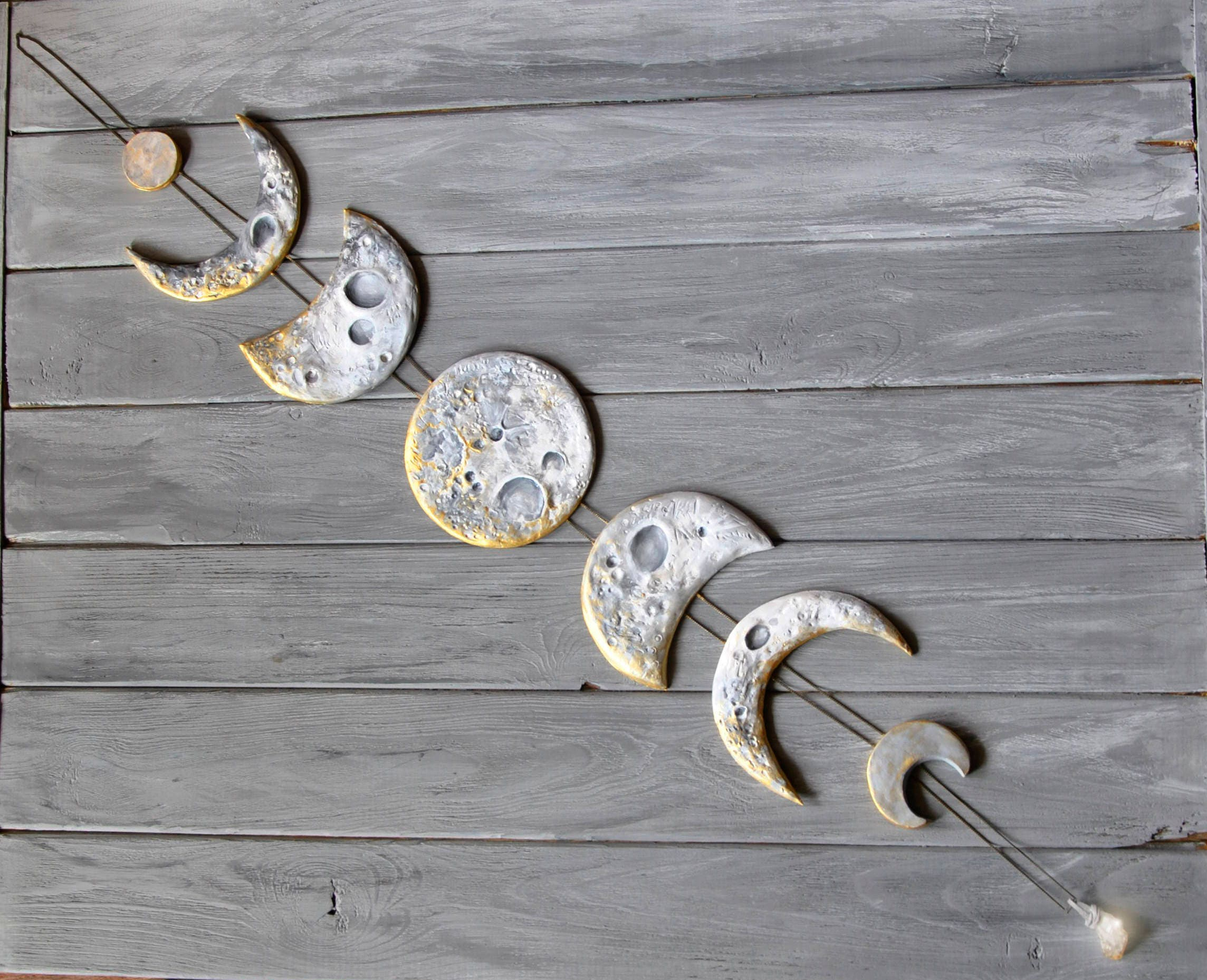 Lunar Decor Moon Phases Wall Hanging Moon Phase Garland