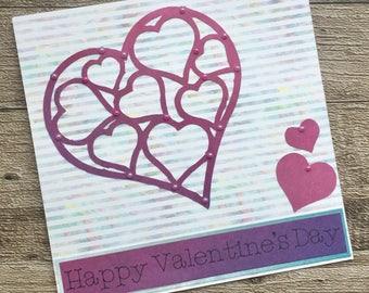 Handmade love card, anniversary wedding engagement, girlfriend valentine's card, boyfriend valentine, husband valentine, wife valentine