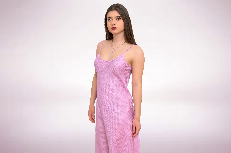 Vintage Scarf Styles -1920s to 1960s Silk Slip Dress, Silk Sleepwear, Vintage Night Gown, Pure Made in Greece By Kalfas $82.91 AT vintagedancer.com
