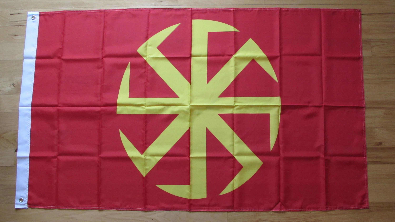 Kolovrat 90x150cm Polyester Banner Flag Slavic Sun Wheel | Etsy