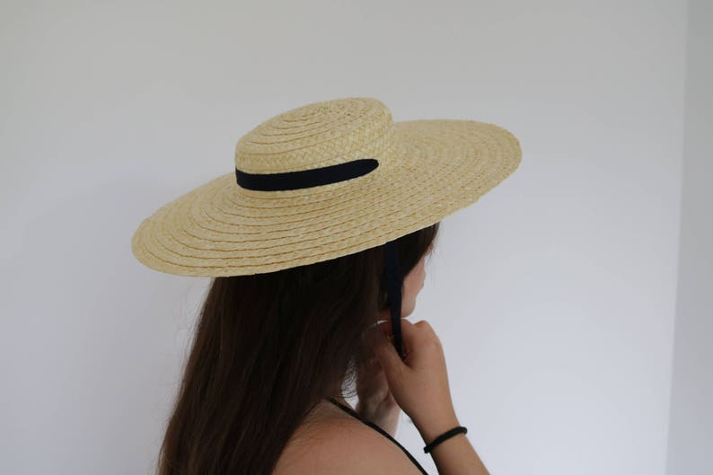 Straw hat Straw Boater woman hat summer hat spring hat image 0
