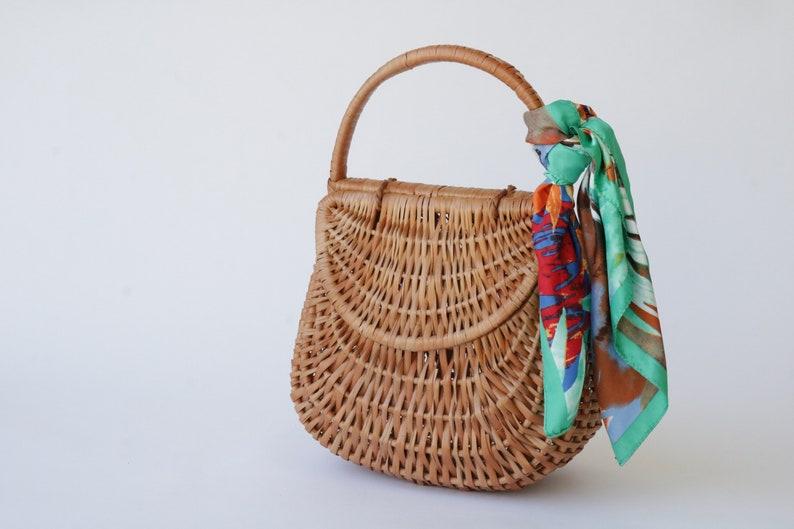 decf9532249f Straw bag wicker basket medium gondola basket wicker bag | Etsy