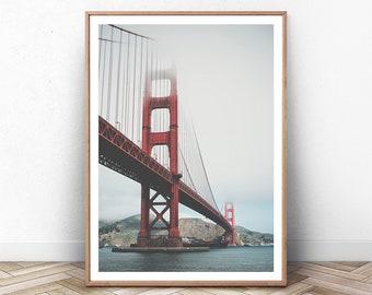 Art Golden Gate Bridge Coast New A3 Canvas Giclee Art Print Poster