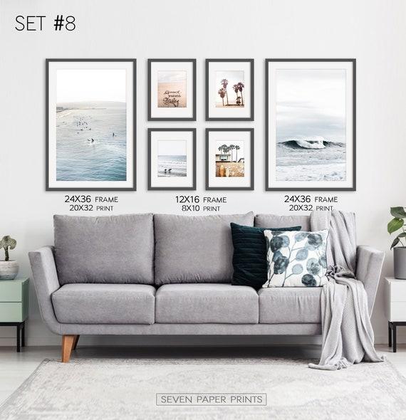 PERFECT FOR HOME//SHOP DECORATION #7 SET OF 3 COASTAL WALL ART PRINT