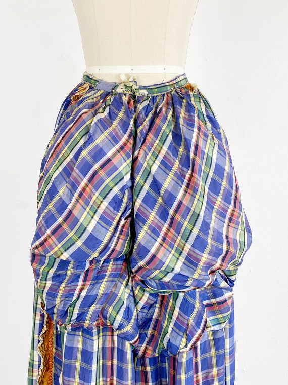Authentic Victorian Skirt - Bustle Skirt - Plaid … - image 5