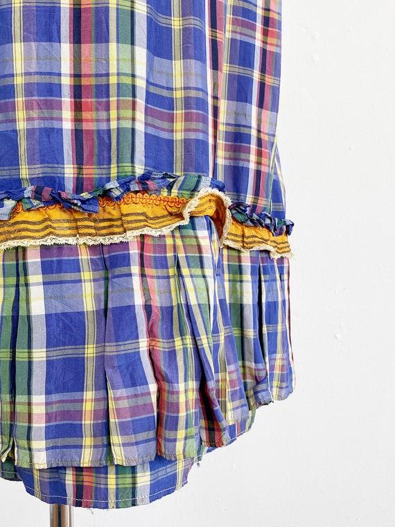 Authentic Victorian Skirt - Bustle Skirt - Plaid … - image 9