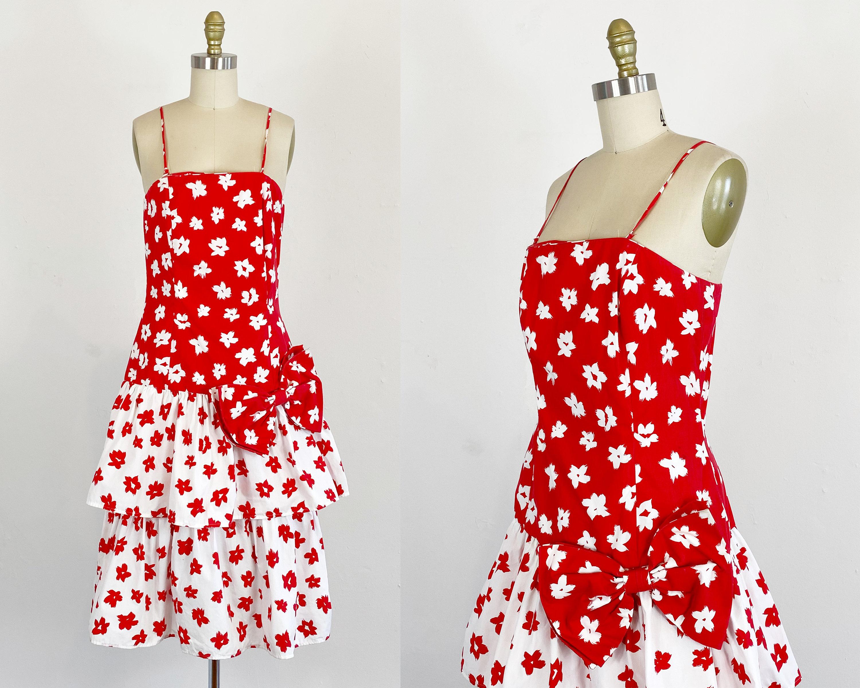 80s Dresses | Casual to Party Dresses 1980S Floral Dress - Garden Party Size Medium $0.00 AT vintagedancer.com