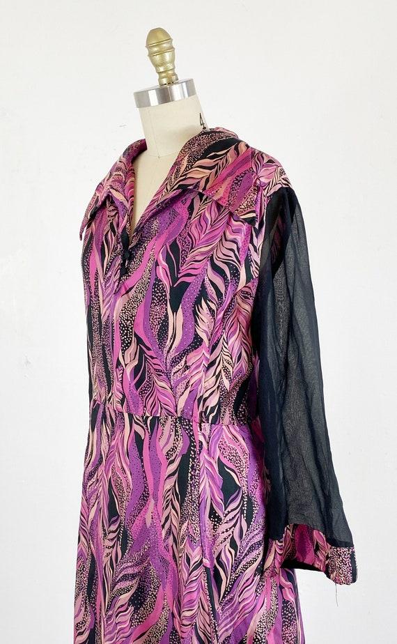 1970s disco dress / studio 54 dress / abstract dr… - image 5
