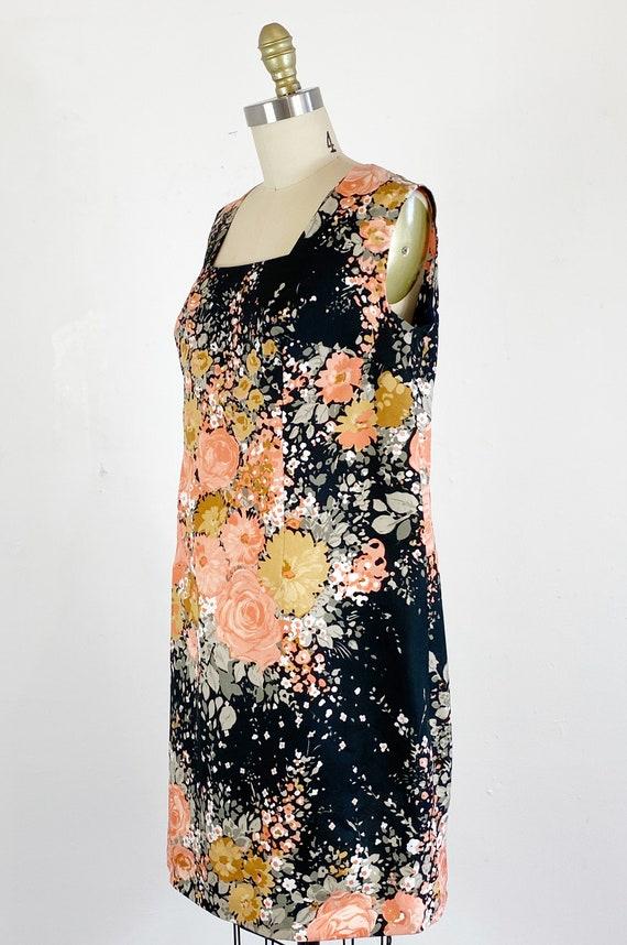 1960s Floral Dress / Shift Dress / Mod Dress / Si… - image 6
