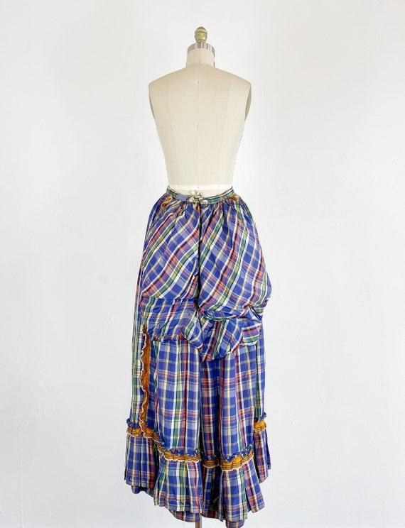 Authentic Victorian Skirt - Bustle Skirt - Plaid … - image 4