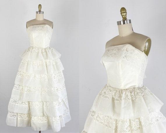 1950s Prom Dress - 1950s Wedding Dress - Cupcake D