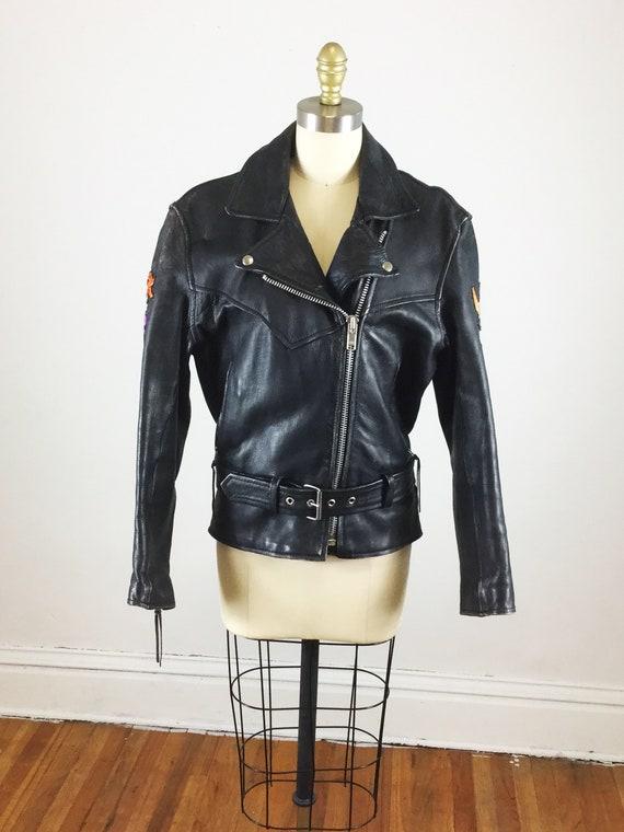 1980s motorcycle jacket // Laughlin river run mot… - image 2