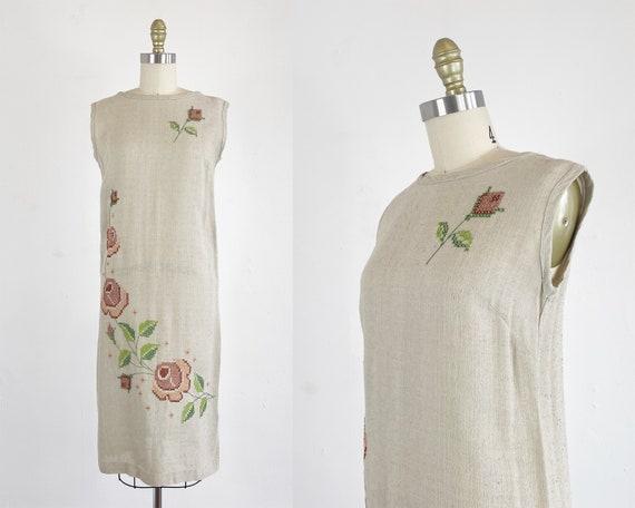 1960s Shift Dress - Floral Shift Dress - Lawn Dres