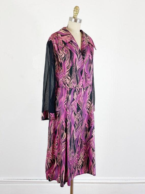 1970s disco dress / studio 54 dress / abstract dr… - image 3