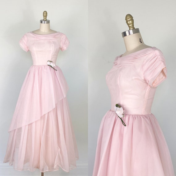 1950s Prom Dress / 1950s Gown / 1950s Wedding Gown