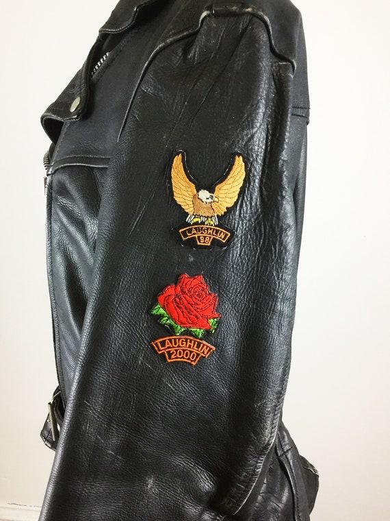 1980s motorcycle jacket // Laughlin river run mot… - image 9