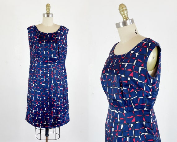 1960s Dress / Shift Dress / Mod Dress / Size Mediu