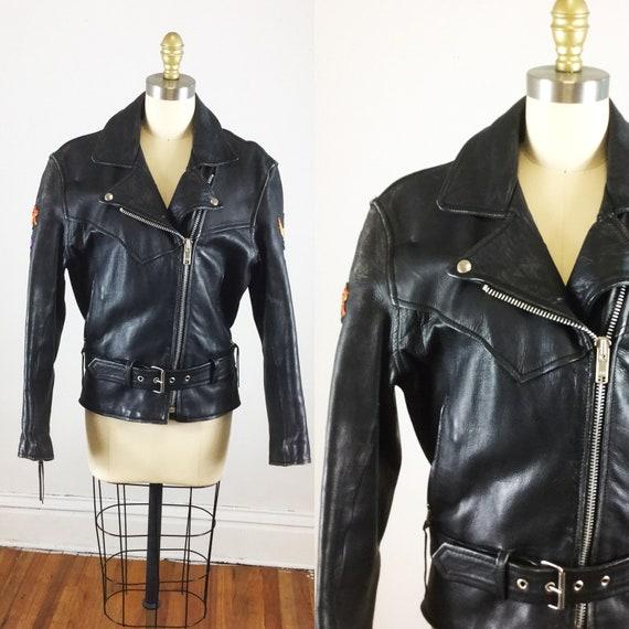 1980s motorcycle jacket // Laughlin river run moto