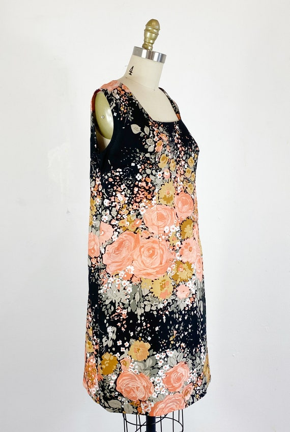 1960s Floral Dress / Shift Dress / Mod Dress / Si… - image 4