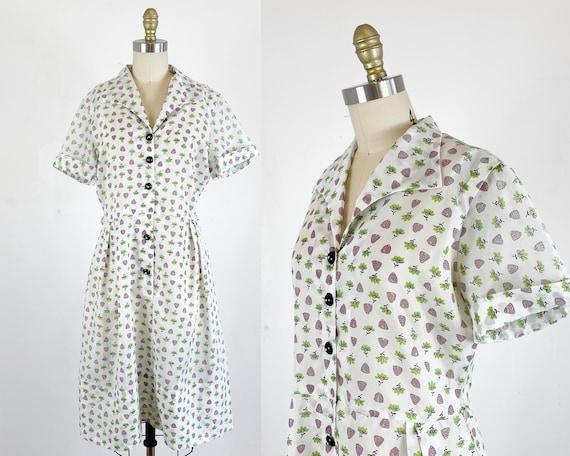 1950s Dress / 50s shirtwaist dress / 50s Novelty p