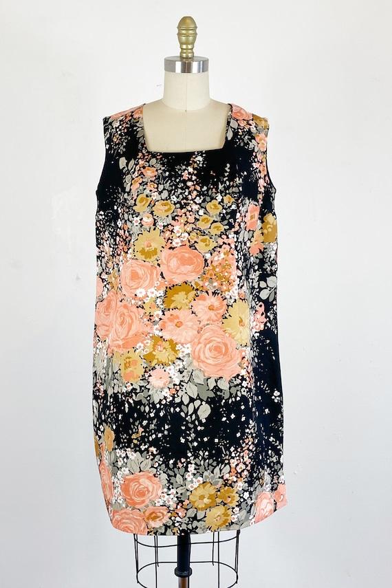1960s Floral Dress / Shift Dress / Mod Dress / Si… - image 2