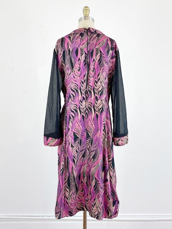 1970s disco dress / studio 54 dress / abstract dr… - image 4