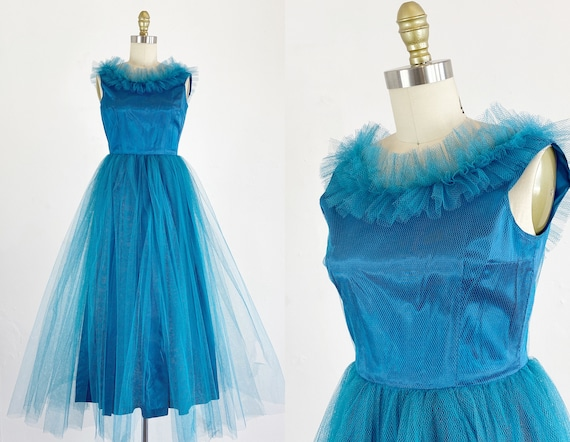1950s Prom Dress - Tulle Prom Dress - Cupcake Dres
