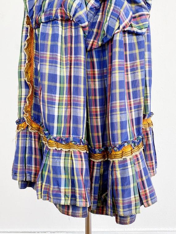 Authentic Victorian Skirt - Bustle Skirt - Plaid … - image 6