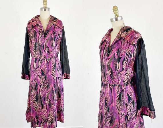 1970s disco dress / studio 54 dress / abstract dre