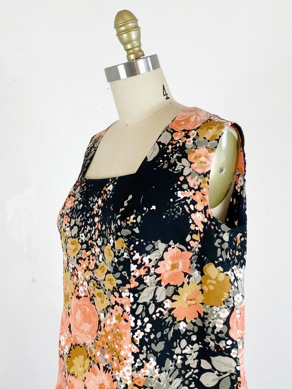 1960s Floral Dress / Shift Dress / Mod Dress / Si… - image 7