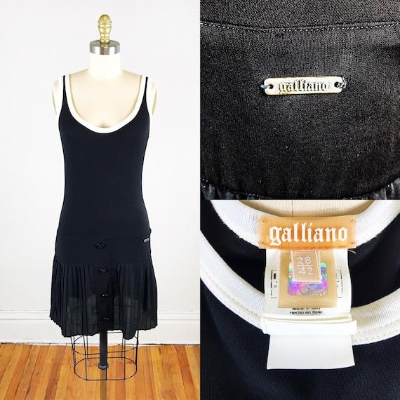 1990s John Galliano dress // John Galliano black p